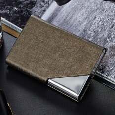 Men card holders buy men card holders at best price in malaysia four season big sale super star mall pu leather stainless steel business card reheart Image collections