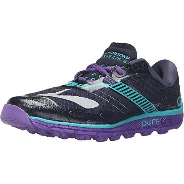 Dari Amerika Serikat Brooks Wanita Puregrit 5 Peacoat Bunga Passion Sepatu  Kets Bercorak Keramik 9e74a18a4f