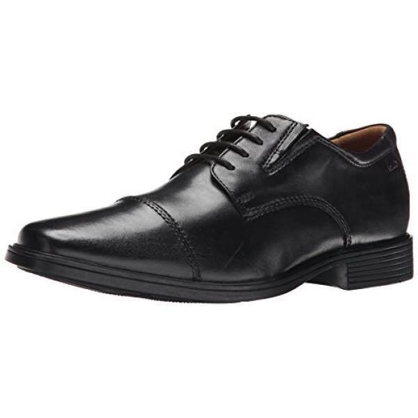 Dari Amerika Serikat Clarks Pria Topi Tilden Sepatu Oxford, Kulit Hitam, 11 M US-Intl