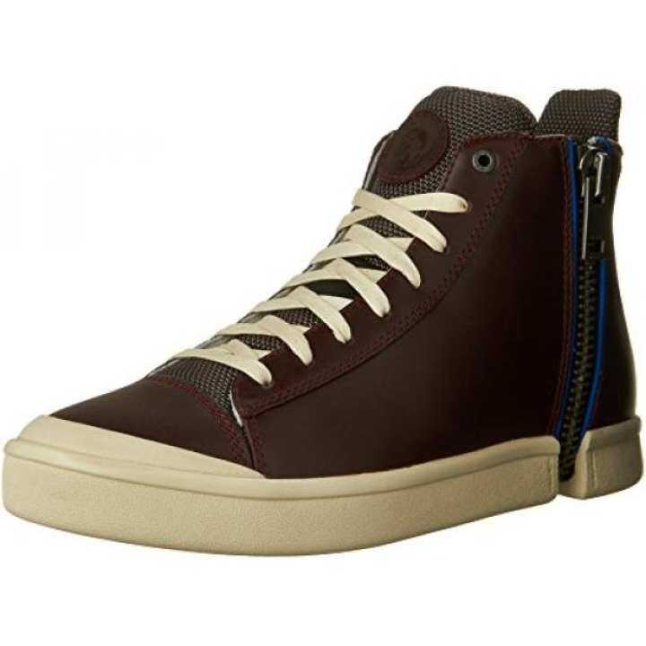 From USA Diesel Mens Zip-Round S-Nentish Fashion Sneaker, Sneaker, Fashion Oxblood Red/Castlerock, US b9944d