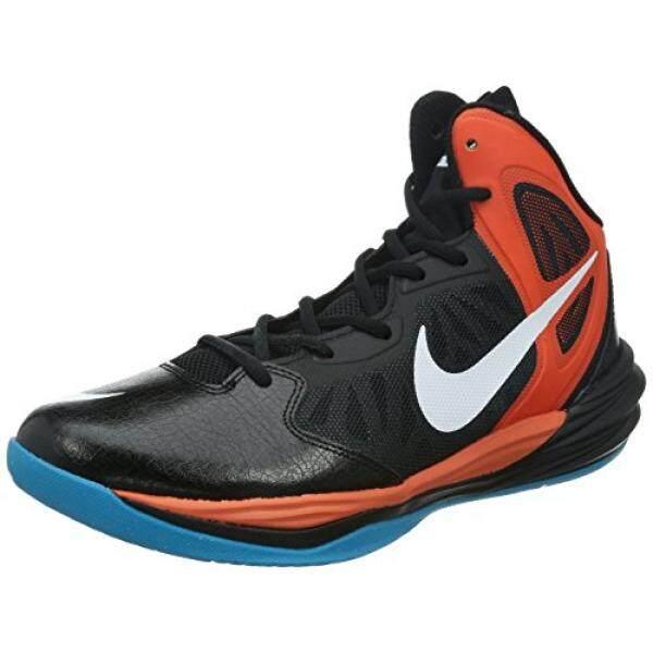Dari Amerika Serikat Nike Pria PRIME HYPE DF Hitam/Putih/Tm Orange/Anthracite Sepatu Basket En Kami-Internasional