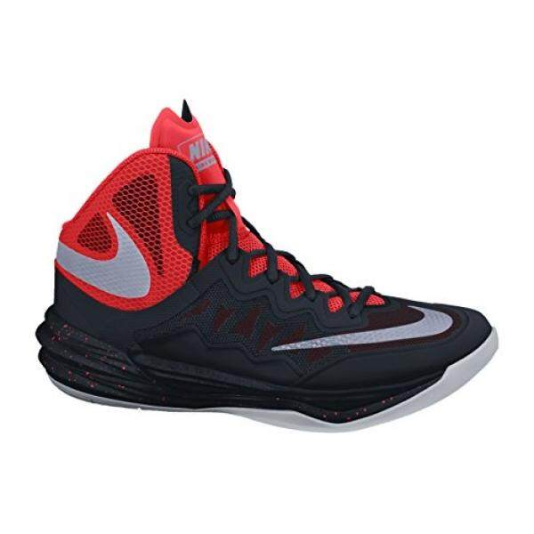 Dari Amerika Serikat Nike Pria PRIME HYPE DF II Sepatu Basket Hitam/Merah Cerah/Terang Mangga/Mencerminkan Perak 8.5 -Intl