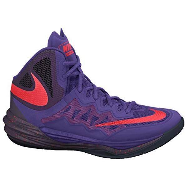 Dari Amerika Serikat Nike Pria PRIME HYPE DF II Sepatu Basket Ungu/Hitam/Merah Cerah Ukuran 10.5 M US- internasional