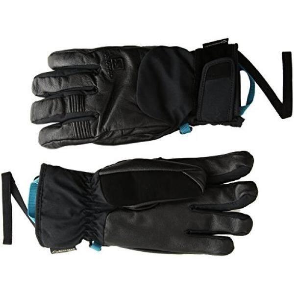 From USA Salomon Womens QST GTX Gloves, Black, - intl