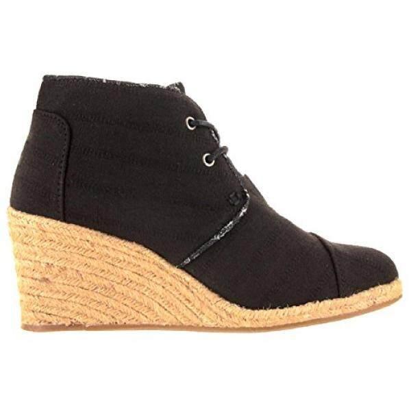 From USA TOMS Womens Black Textures Lien Desert Wedges 10007575 (Size: 8) - intl