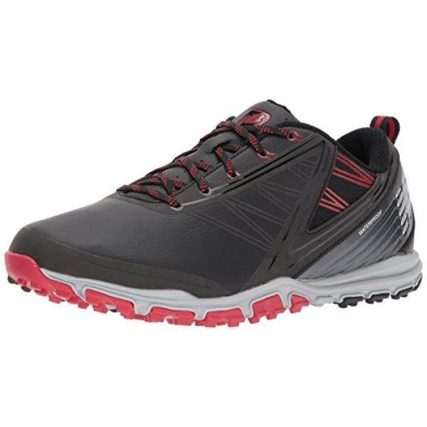 [. Amerika Serikat] New Balance Pria Minimus SL Golf Sepatu, Hitam/Merah, 9 2E 2E Kami B074L8L3VK-Internasional