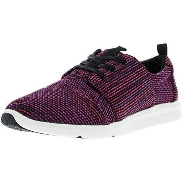 c1e16900f81 USA TOMS Womens Del Rey Sneaker Black Plum Multi Knit 8.5 B