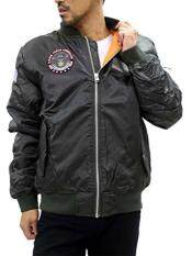 Future Bullet Men's MA-1 Bomber Flight Jacket Military Jacket With Patches Big & Tall (4XLarge, Charcoal Gray)