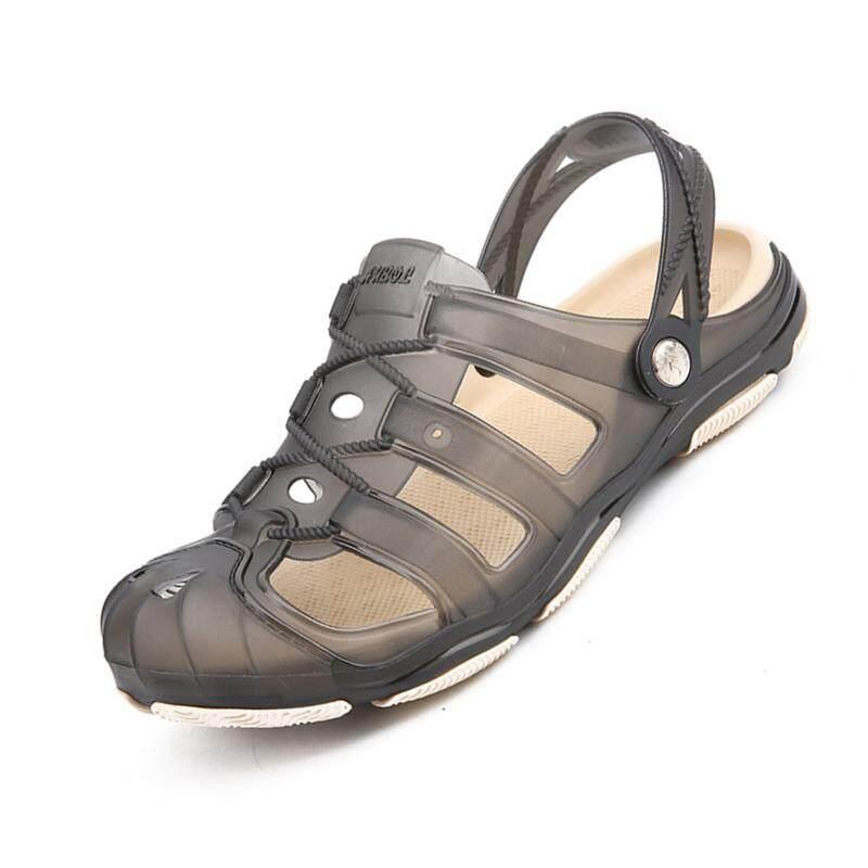 Taman Clog Sepatu untuk Pria Cepat Kering Musim Panas Pantai Sandal Datar Bernapas Luar Ruangan Sandal Pria Berkebun Sepatu Pria Mule Bakiak -Internasional