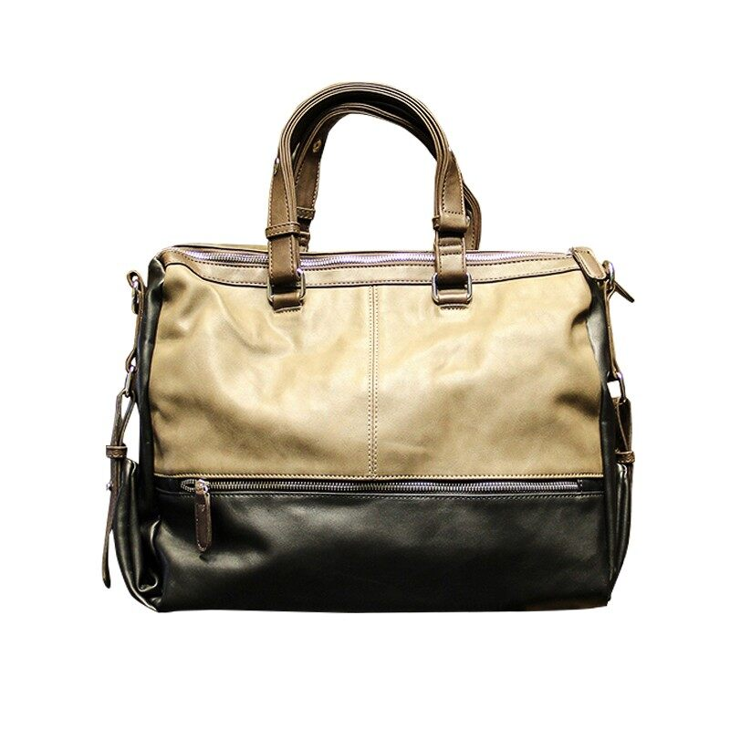 28c9ab889 Genuine Cow Leather Tote Bags Casual bag men bag shoulder bag men tide bag  shoulder Messenger