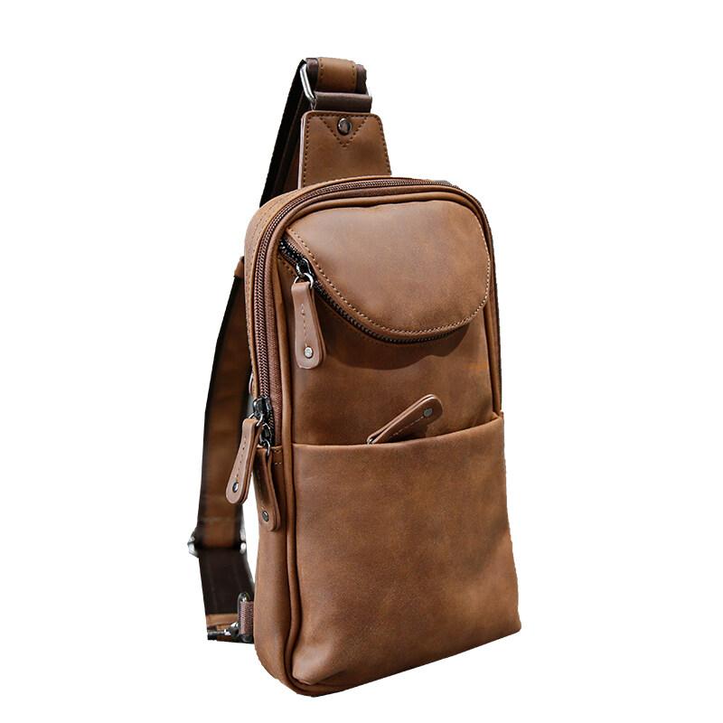 Buy 100 Genuine Cow Leather Crossbody Bags New Chest Bag Men Messenger Bag Casual Purses Men Bag Shoulder Bag Chest Bag Intl Online