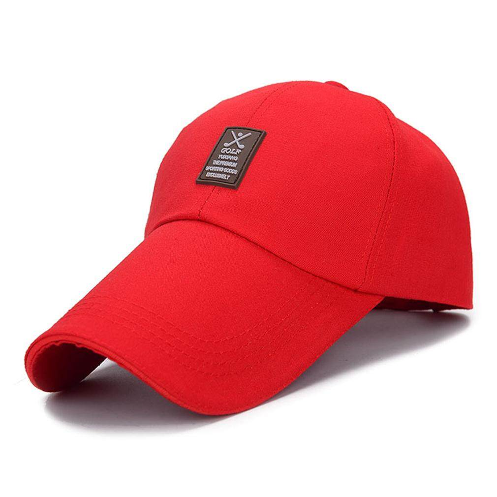 GOOD New Design Summer Mountain-climbing Sun Visor Baseball Lengthened Eaves Cap Red