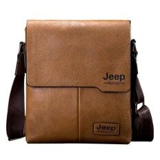 GreatCare Jeep Buluo Messenger Bag Jeep Leather Briefcase Shoulder Bag Unisex Working Briefcase Leather Sling Bag
