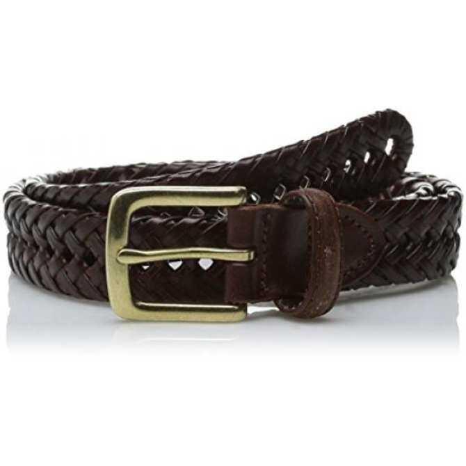 Haggar Mens 30MM Braid Belt, Brown, 36