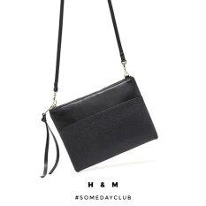 93c88a7cd72a H M Faux Leather Small Shoulder Bag Crossbody Bag (Black)