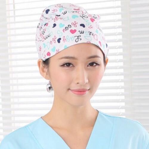 Han Melarang Seluruh Katun Bunga Surgical Operation Topi Ruang Operasi Topi Pria dan Wanita Dokter Perawat