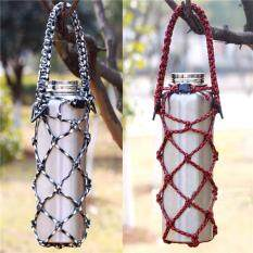 Os Hand Knitting Water Bottle Carrier Crafted Net Holder For Cylindrical, Cola Shaped Water Bottles Random Color Specification:random Color By Outop Store.