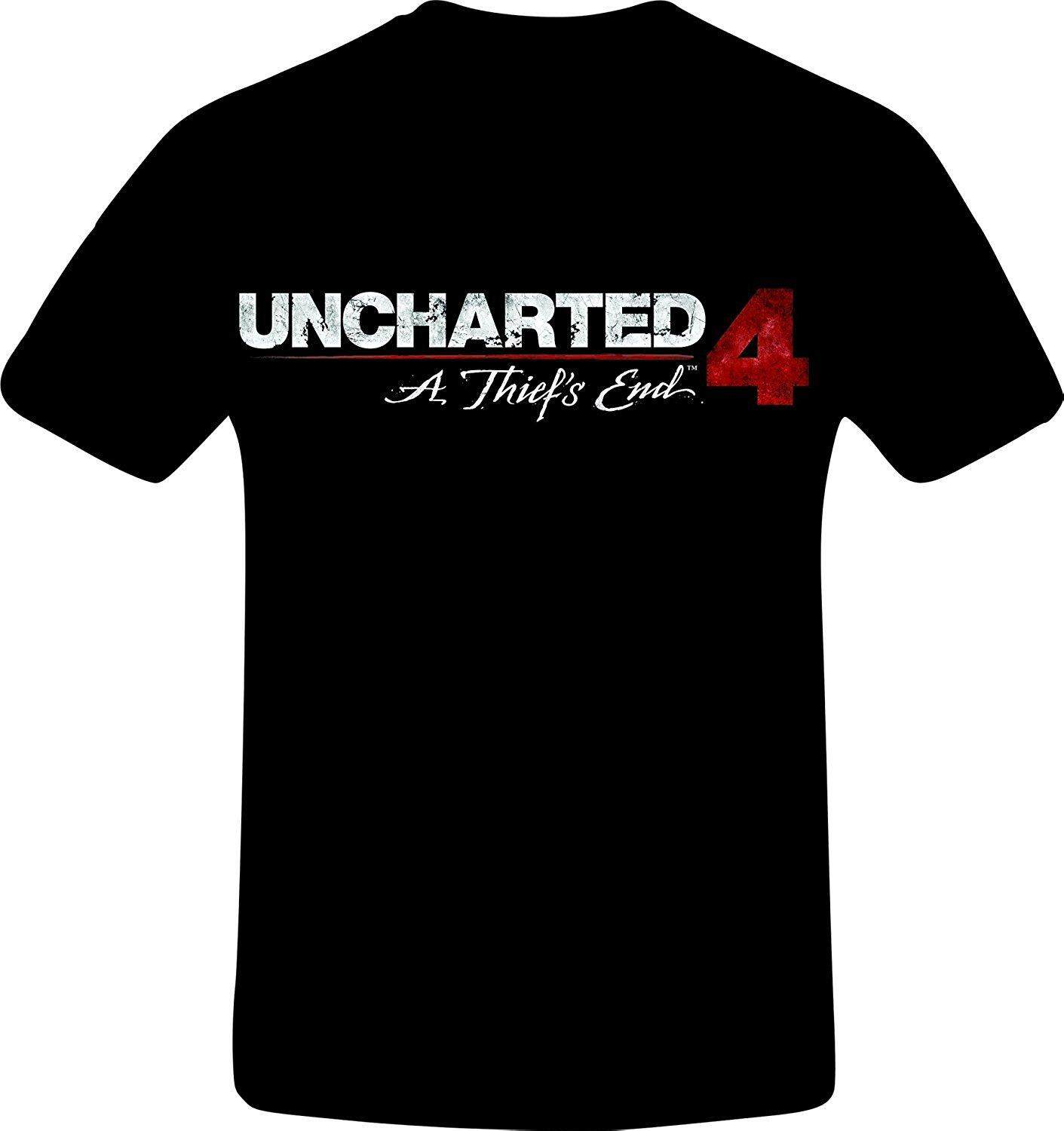 Buy Sell Cheapest Best Seller Uncharted Quality Product Deals Ps4uncharted 4 A Thief End Reg 3 All Hangyu Custom Mens T Shirt Fashion Short Black Tshirt
