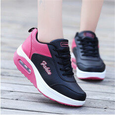 Black Women's Air Shoes Thick Platform Increased Sports Slope With Women's Zsell