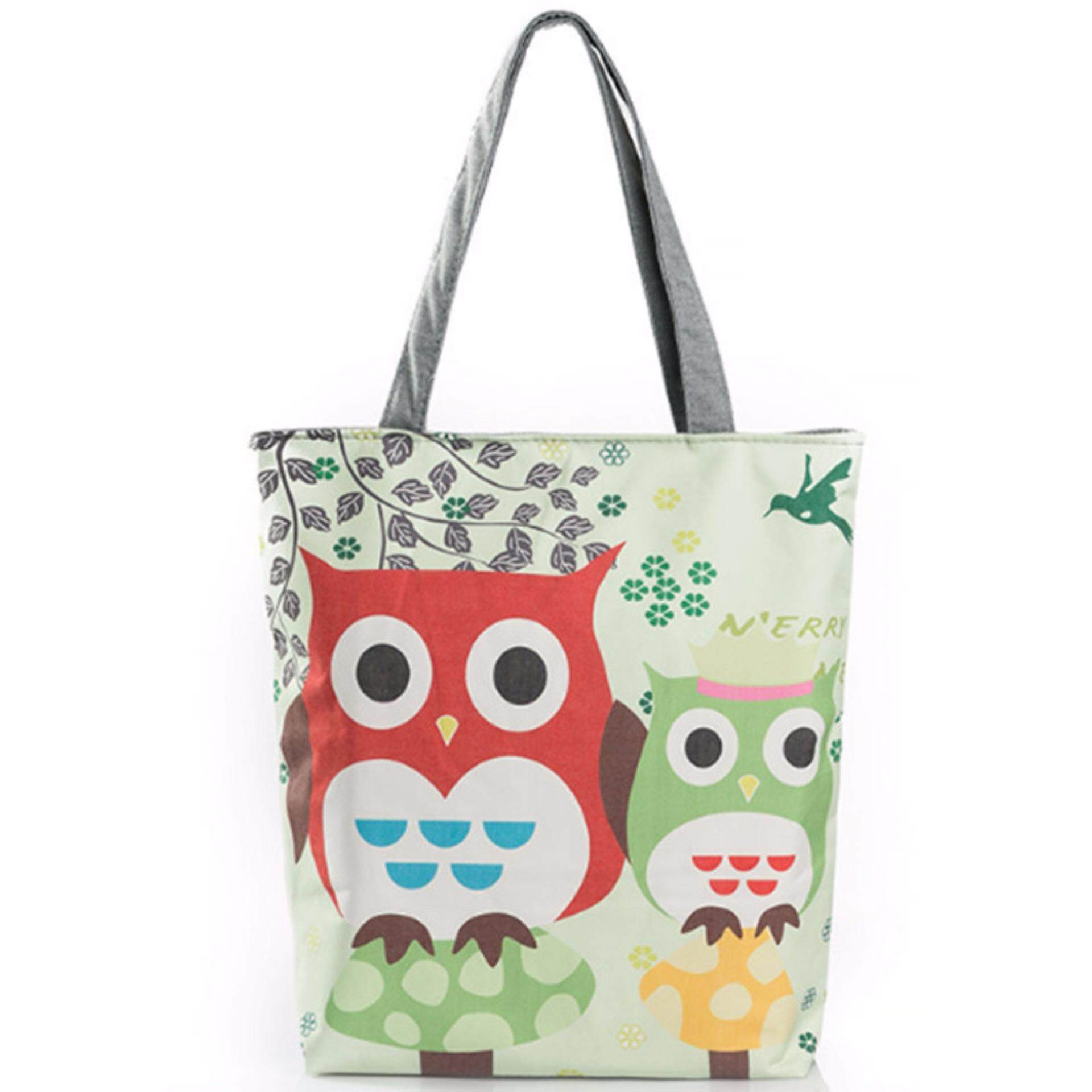 Buy Sell Cheapest Tongchuang Creative Shopping Best Quality Female Canvas Shoulder Bag Large Capacity Travel Women Owl Printed Tote Bags Beach