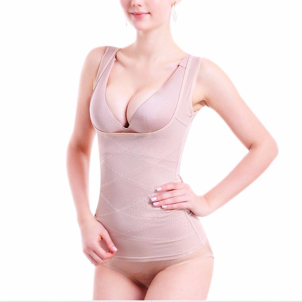 Hequ Musim Panas Wanita Bodysuit Korset Pakaian Tipis Elastis Bodysuit  Badan Shaping Yg Melangsingkan Pakaian Nude a6ae867102
