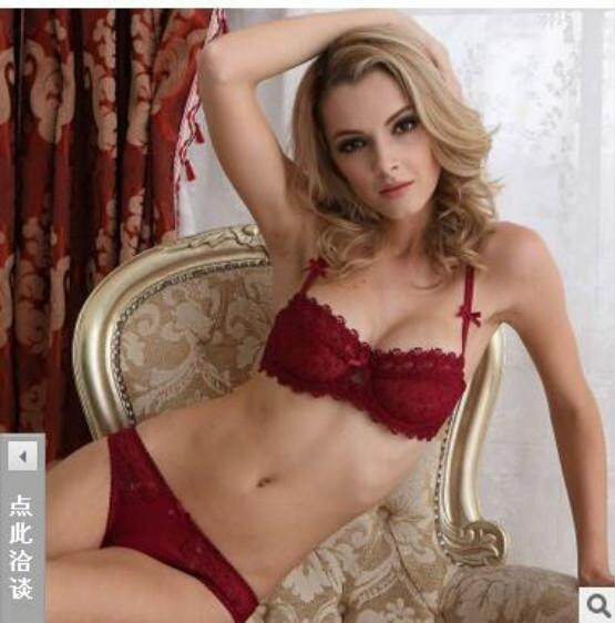 HGHISYU Newset Very Women Half Cup Lace Bra + Briefs Plus Size Ultra-thin  Plunge 3e7d7dd66