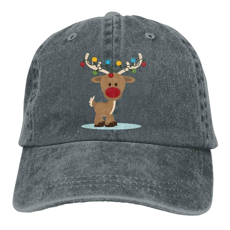 2d883396d18f2 HHNLB Flying Reindeer Christmas Vintage Jeans Baseball Cap For Men And  Women - intl
