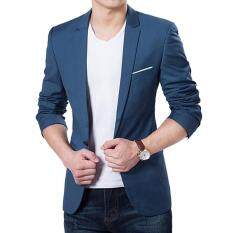 Low Cost High Quality Autumn Clothing Men Costume Jacket Blazer Cardigan Suits Jackets Coat Navy Blue