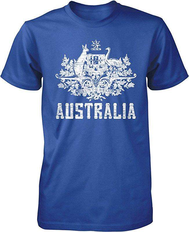 Panggul Hop Australia Mantel dari Arms South Wales Victoria Queensland Kustom Modis Kausal Katun Pria Lengan Pendek Leher-o T Kaus biru-Internasional