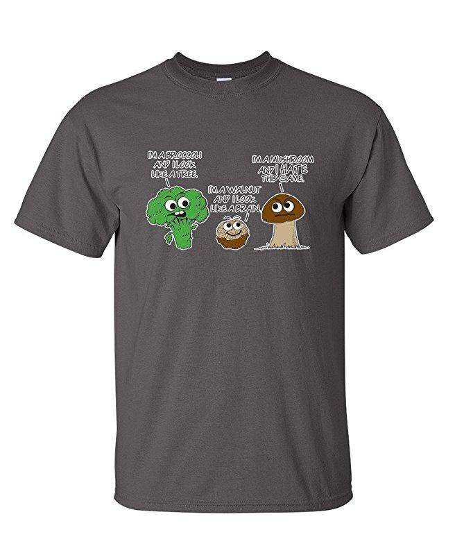 Hip Hop Vegetable Comparison Game Adult Humor Graphic Very Charcoal Fashion Causal 100% Cotton Mens Short Sleeve T Shirts - intl