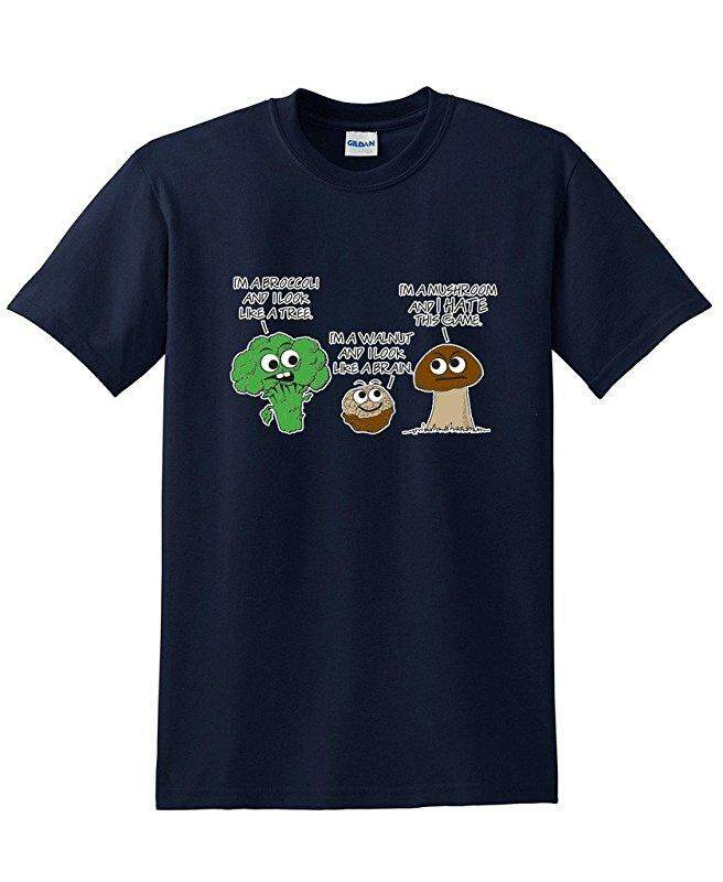 Hip Hop Vegetable Comparison Game Adult Humor Graphic Very Custom Cotton Mens Short Sleeve Round T Shirts Navy Blue - intl