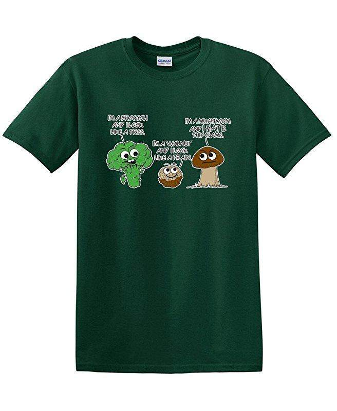 Hip Hop Vegetable Comparison Game Adult Humor Graphic Very Deep green Fashion Causal 100% Cotton Mens Short Sleeve T Shirts - intl