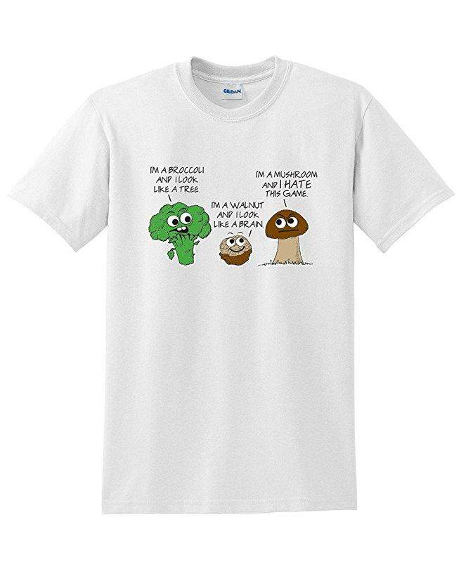 Hip Hop Vegetable Comparison Game Adult Humor Graphic Very White Fashion Causal 100% Cotton Mens Short Sleeve T Shirts - intl