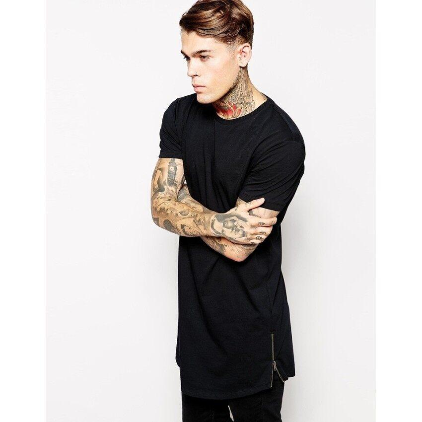 HUADE Mrmt Long T Shirt Men Hip Hop Black T-Shirt Longline Extra Long Tee d79a10af858