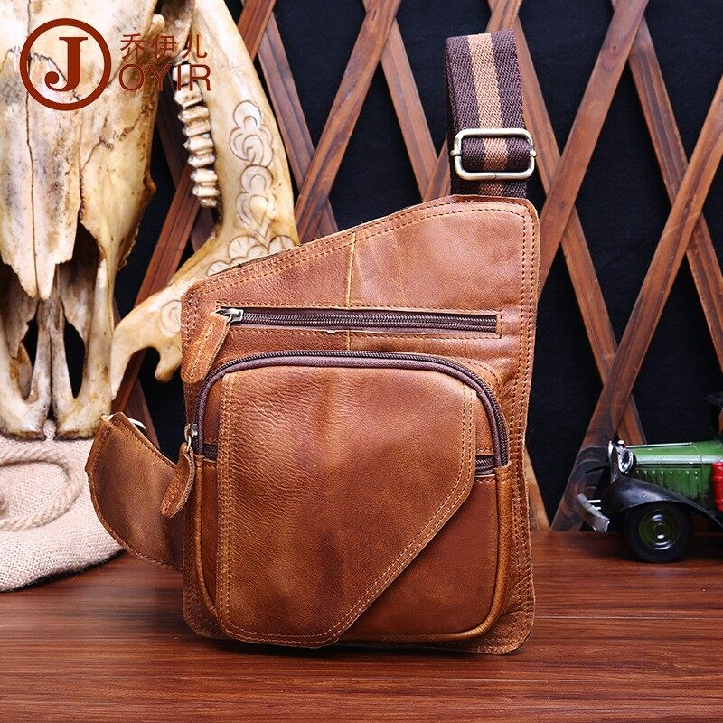 17646a3accd 4 Color Italian 100% Genuine Cow Leather Hot Sale Chest Shoulder Bag Men s  Messenger Bags