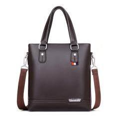 Hot - New European and American Fashion Business Bag Handbag Vertical Mens Shoulder Bag Messenger Bag