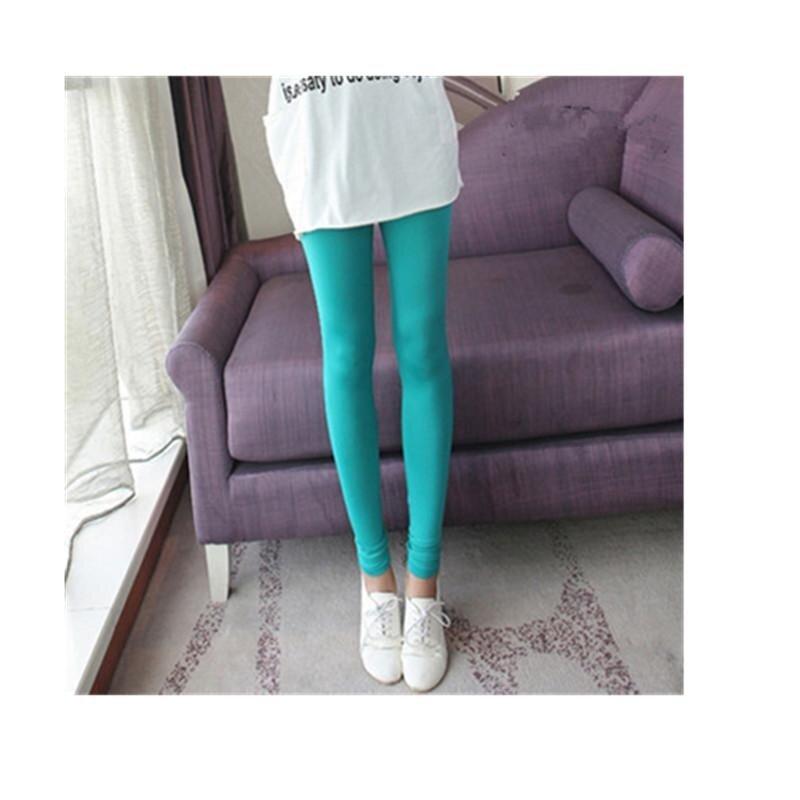 Seksi Baru Mengencangkan Celana Es Sutra Sembilan Korea Wanita Legging Celana Musim Panas (Hijau)