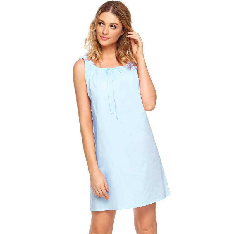 Hot Sale Astar Womens Sleeveless Pajamas Solid Sleepwear Nightgown Dreams  Dress Tranquil de096b3ee