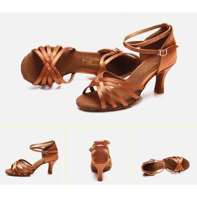 Hot Selling Women s Tango Ballroom Latin Dance Dancing Shoes Heeled Salsa  Professional Dancing Shoes For Girls 9b754159d74c