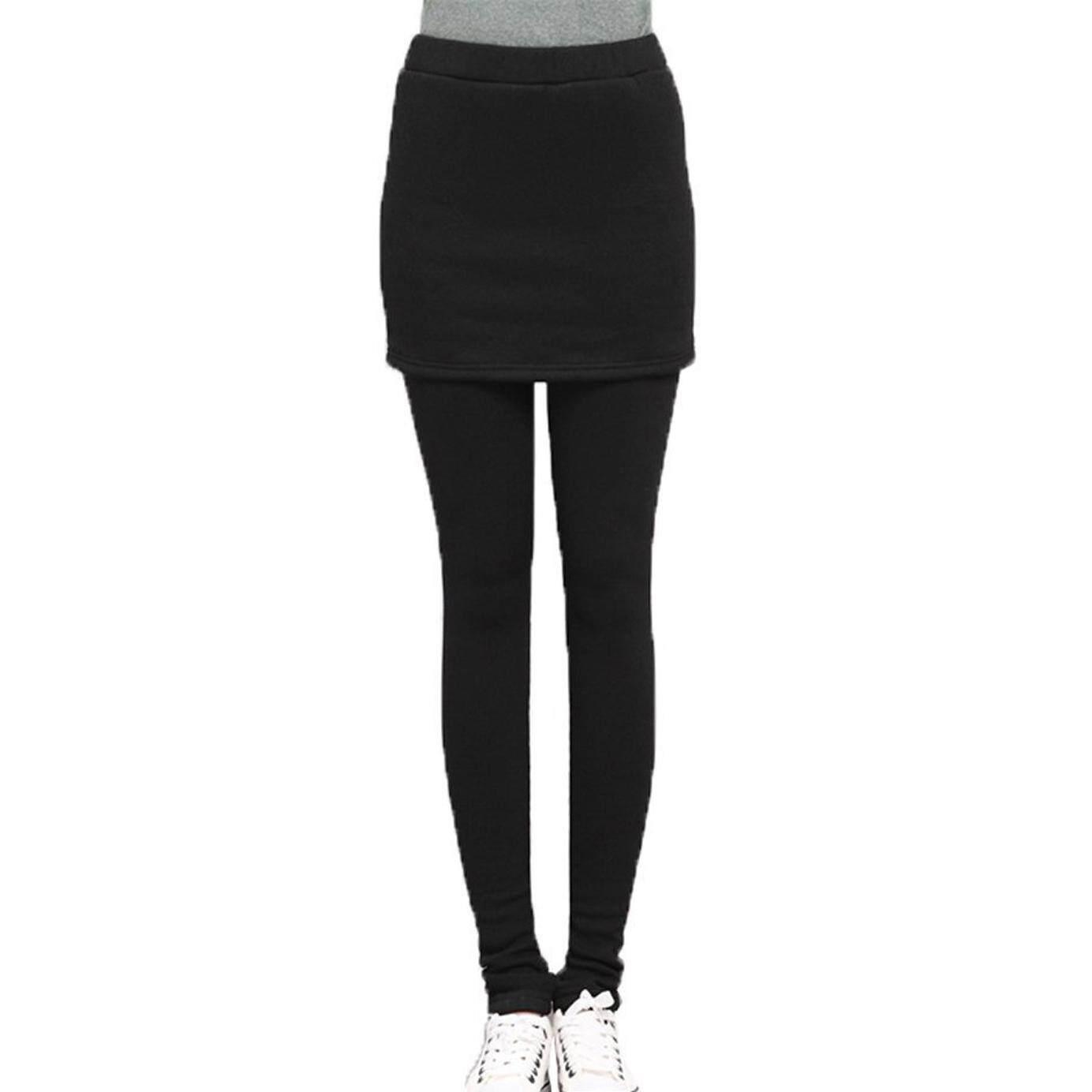 2a8bf87e712 Hot Women Autumn Winter Skirt Leggings Cotton Pleated Tights Stretch  Pants-black - intl
