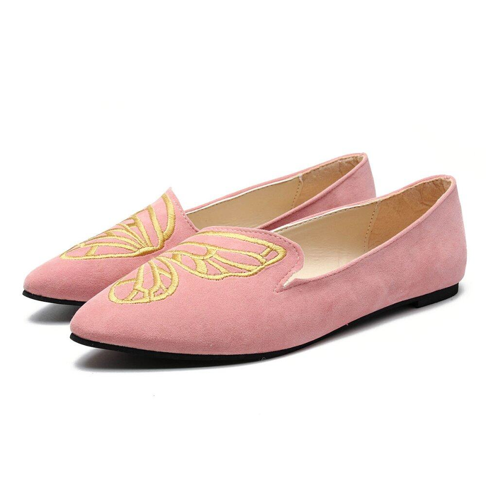 f2ee2c0eb10 HOT Womens Boat Shoes Casual Ballet Slip On Flats Loafers Butterfly Single  Shoes - intl