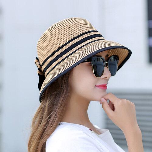 Cocok untuk Rambut Pendek untuk Topi Perjalanan Wanita Wajah Bulat Di Langit Pria Pemuda Pergi Pada Tur untuk Menyembunyikan sun Rekreasi 100 Mengambil untuk Melipat Dapat-Intl