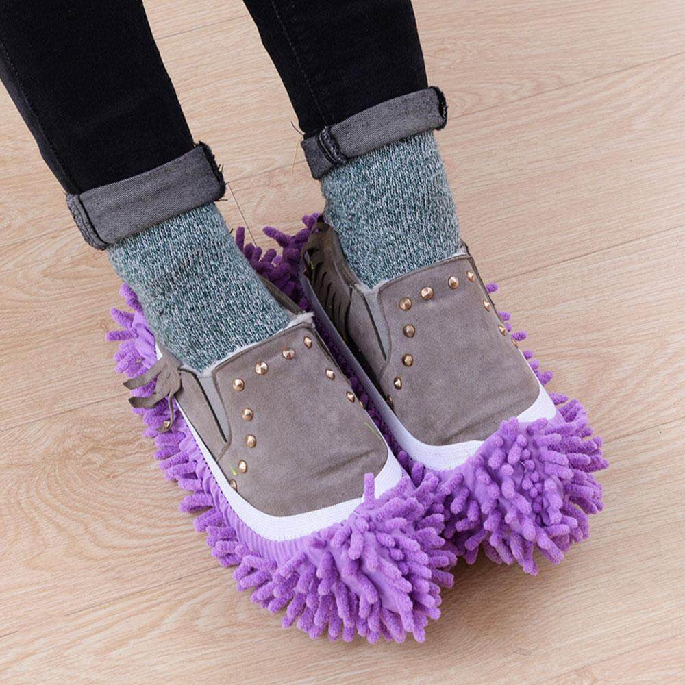 ISeason Mall 1PCMops Lazy Cleaning Foot Cleaner Shoe Mop Slipper Floor Polishing Cover New - intl
