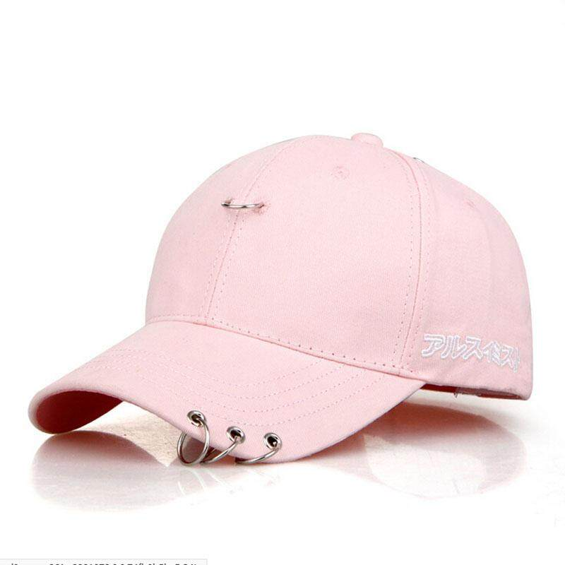Ishowmall Embroidery Cotton Hip Hop Hat Peaked Cap with A Ring Cap Clip Ring - intl