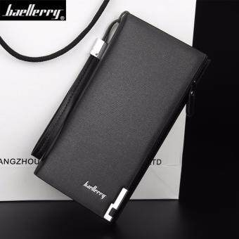 IUNYK Baellerry Men Wallets Fashion Design Long PU leather Long Zipper Coin Purse IU0116
