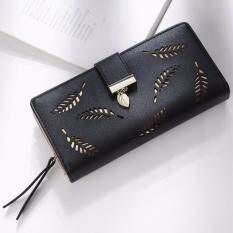 Women wristlets buy women wristlets at best price in malaysia iunyk women wallets hollow out leaf long clutch purse card holder bifold leather wallet hand bag reheart Images