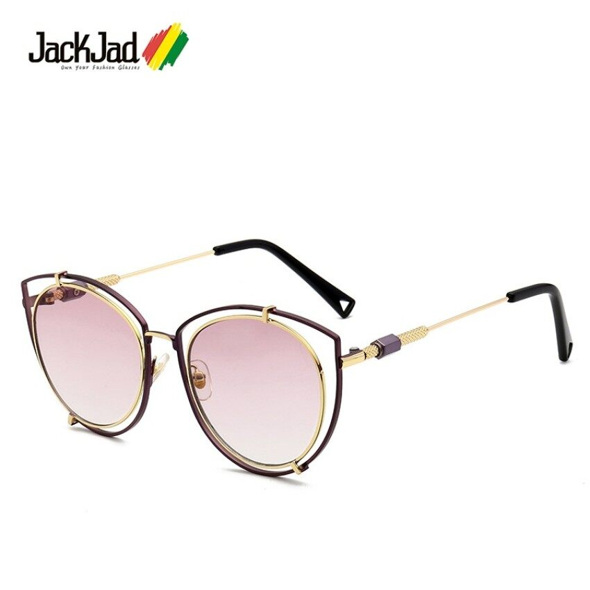 23aee625fe8 GFW Jackjad New Fashion Cool Hollow Out Cat Eye Vyt Style Sunglasses Women  Street Snap Brand