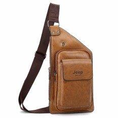 46da73f88125 Jeep Buluo Men Leather Bags Theftproof Magnetic Button Messenger Bag Leather  Travel Bag Hiking Bag Sling