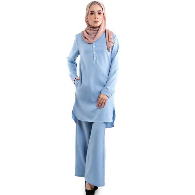 JF Fashion Wardah Suit Blouse and Pant D388 (LightBlue)