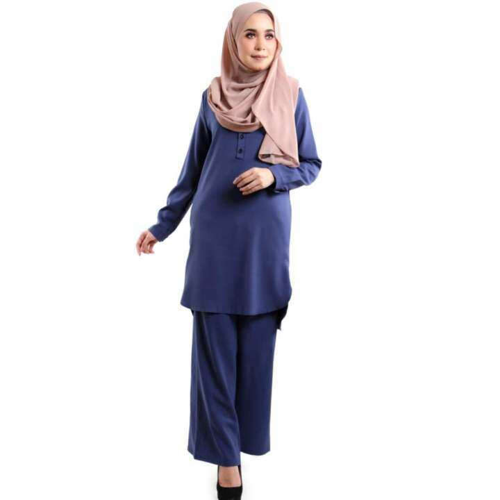 JF Fashion Wardah Suit Blouse and Pant D388 (NavyBlue)